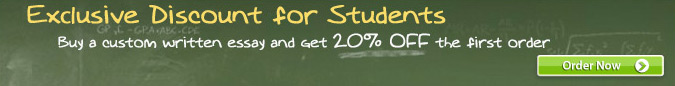 Buy a custom written essay and get 20% OFF the first order